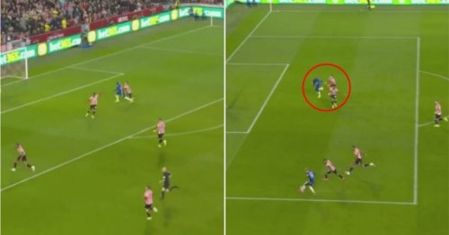 Brentford player shoved Romelu Lukaku into offside position - and it was absolutely genius