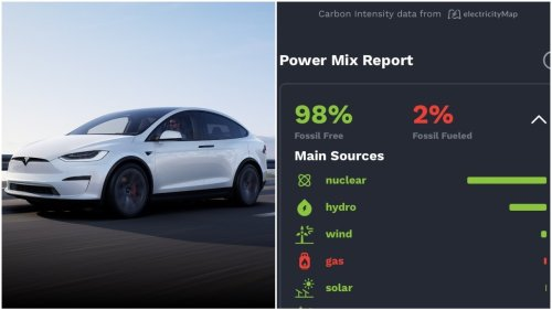 Tesla Drivers Can See If Their Car Is Being Powered By Coal Or Renewables With This App