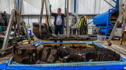 Striking Bronze Age Coffin Found in Golf Course Pond