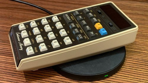 Adding Wireless Charging to a 46-Year-Old Calculator Shows Off Incredible Devotion to a Gadget