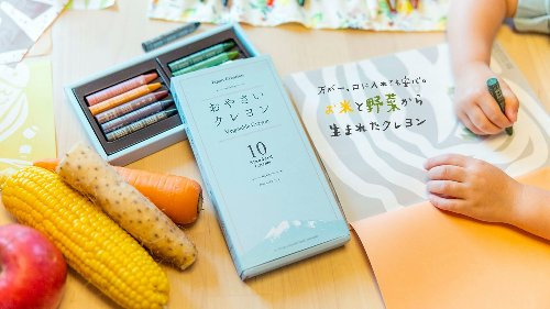 You Might Actually Want Your Kids to Eat These Crayons Made From Rice and Vegetable Waste