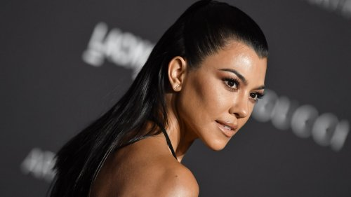Kourtney Kardashian Showed Off Her Engagement Ring in Romantic Topless Photos