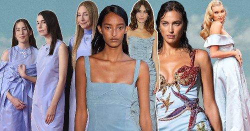 Olvida todo lo que creías saber sobre moda, el vestido (azul) paloma es la tendencia y el color de la primavera