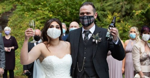 Unhappy couples join wedding industry protest over 'inconsistent' lockdown rules