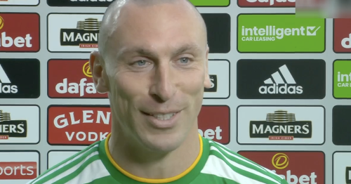 Scott Brown in Celtic interview gaffe as oblivious skipper drops x-rated quip