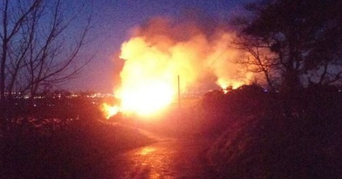 'Group of drunk kids' set fire to large area of grassland on outskirts of city