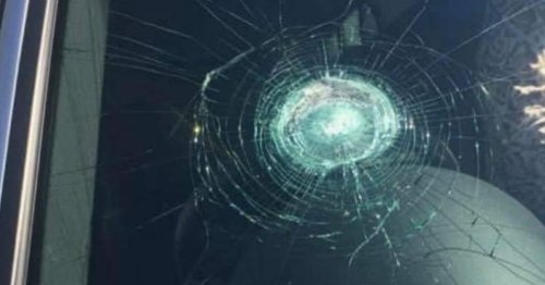 Driver 'could have been killed' after brick smashes car windscreen while on M8