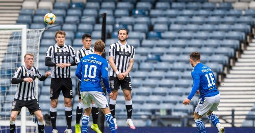 Rangers Loanee Glenn Middleton whips home free-kick in Scottish Cup semi-final