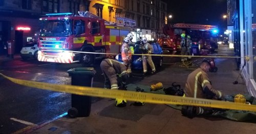 One injured in Glasgow tenement fire after emergency crews race to Byres Road