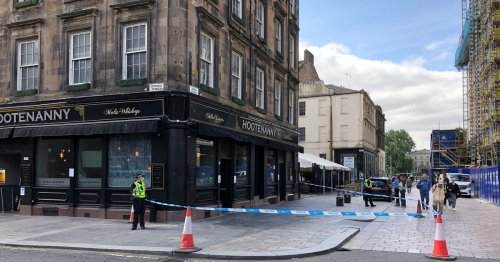 Man, 56, attacked in Glasgow city centre as pub cordoned off