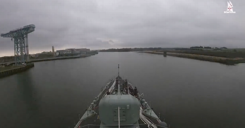 Glasgow arrival of Portuguese warship on Clyde shown in amazing timelapse video