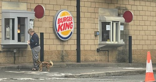 Glasgow woman walks through Burger King drive-thru with her dog for a juice