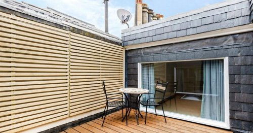 Three-bed duplex conversion in Victorian townhouse with private rooftop terrace