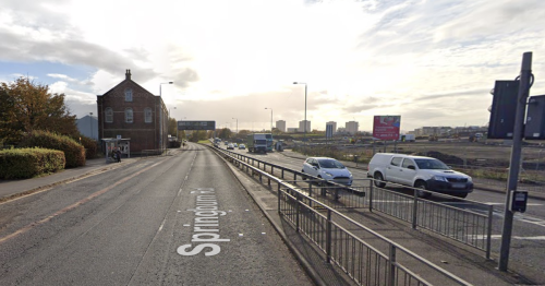 Traffic into city centre affected as crash forces closure of Springburn Road