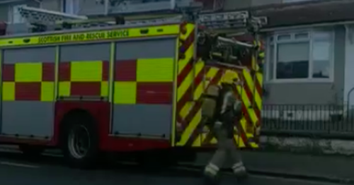 Emergency services rush to fire in property on south side road