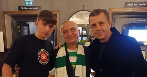 Celtic-daft Albanian President jets in to Glasgow to cheer on his beloved Hoops