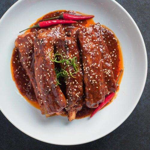 korean braised pork ribs - glebe kitchen