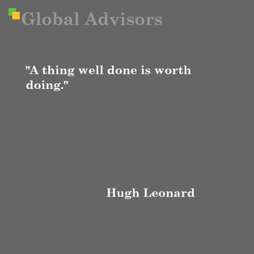 Quote: Hugh Leonard - Global Advisors   Quantified Strategy Consulting