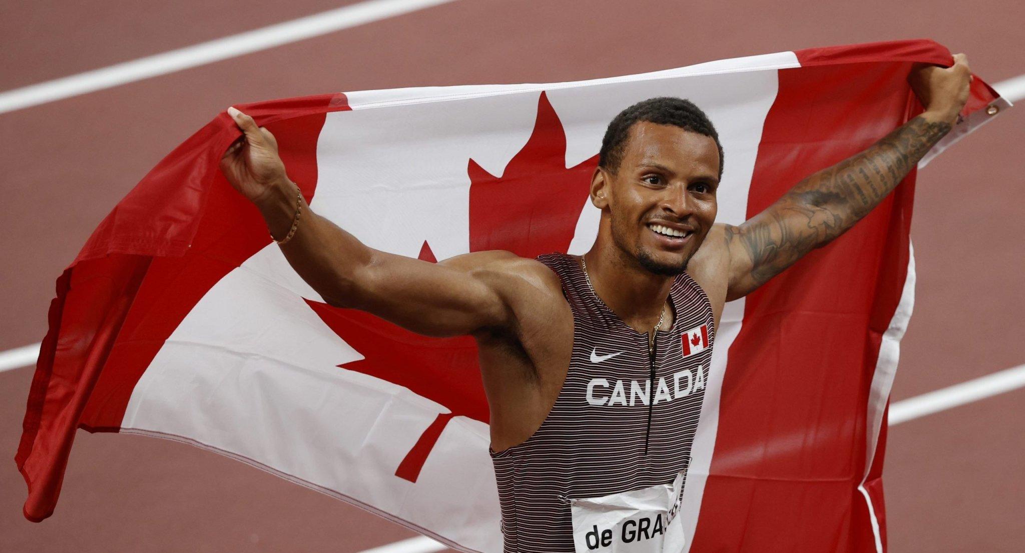 Olympics-Athletics-Canadian De Grasse ends long wait for gold
