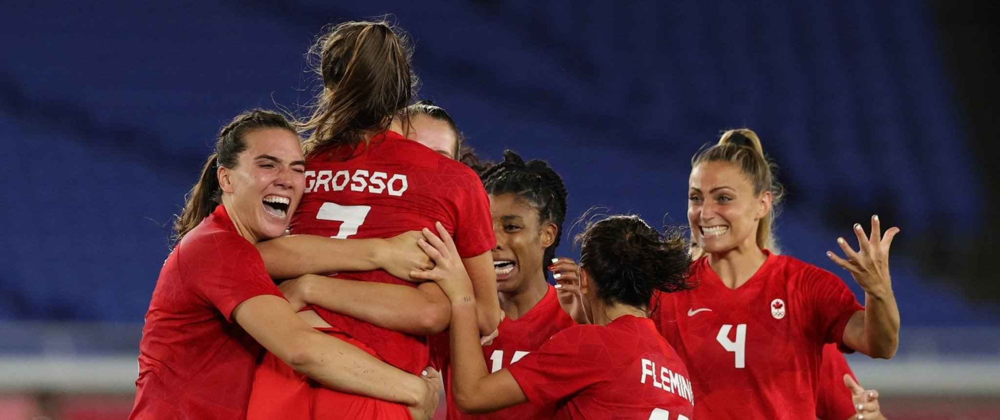 Olympics-Soccer-Canada take women's gold after shootout win over Sweden