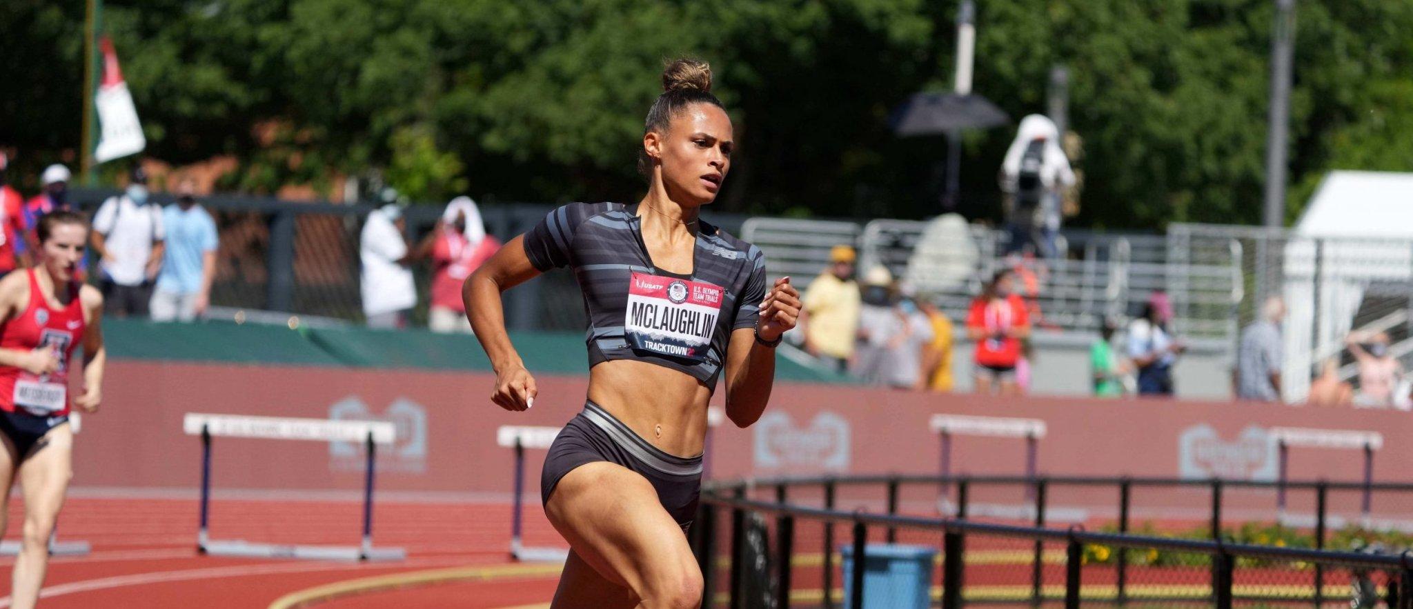 Athletics-American McLaughlin breaks women's 400m hurdles world record