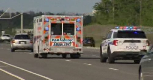Man seriously injured after being hit by car while running away from officer on Highway 403: police - Toronto | Globalnews.ca