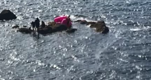3 people, 2 dogs adrift in inflatable flamingo rescued by Alaska Coast Guard