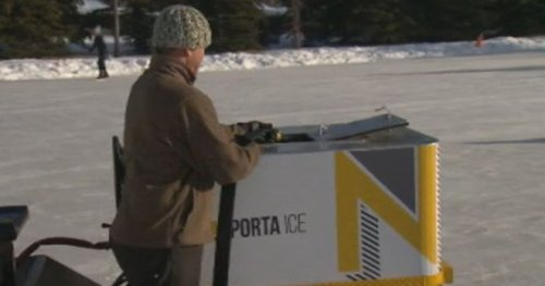 Pandemic creates opportunity for unique Calgary-made ice resurfacer | Globalnews.ca