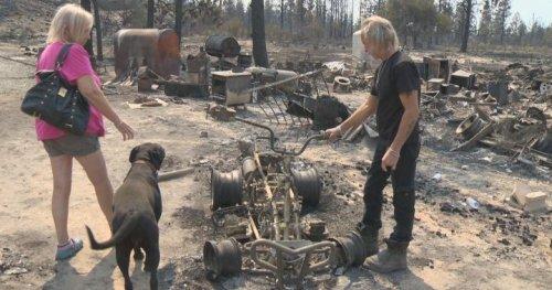 South Okanagan couple loses home in Nk'Mip Creek wildfire, shares harrowing escape | Globalnews.ca
