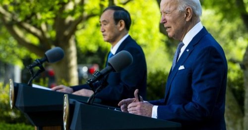 Biden, Japan's Suga unite against China's aggression at 1st White House summit
