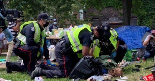 29-year-old man charged in connection with Toronto encampment protest - Toronto   Globalnews.ca