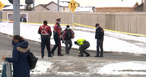 Cyclist rushed to hospital after being struck by vehicle in northeast Calgary - Calgary | Globalnews.ca