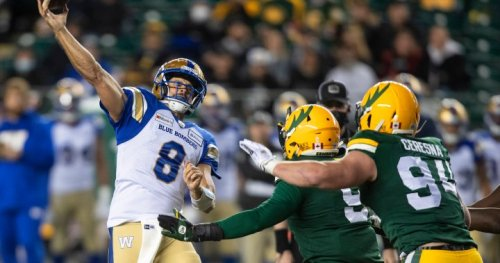Elks still winless at home after losing 37-22 to Winnipeg - Edmonton | Globalnews.ca