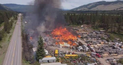 Luck, hard work helped to contain massive North Okanagan mill fire