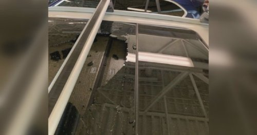 'It was like a bomb went off': Shattered sunroof frightens and frustrates Calgary driver