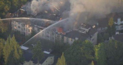 Large Surrey condo blaze displaces dozens of residents - BC   Globalnews.ca