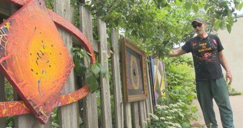 'Street find' art transforms NDG alleyway into outdoor gallery