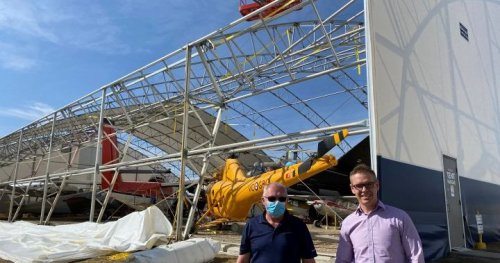 Aircraft museum hit by storms makes repairs after 'some sleepless nights'