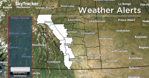 Alberta to see 20-degree drop in temps and up to 15-centimetres of snow