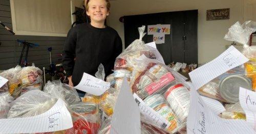 12-year-old boy starts 'amazing' online effort to help Calgary Food Bank