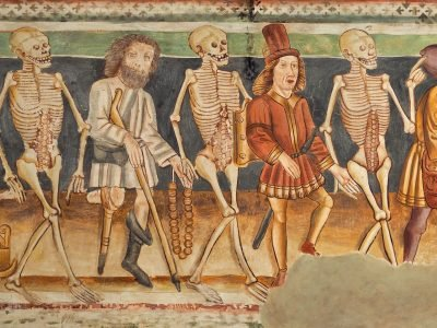 Serbian anti-vaxxers revive the medieval 'Danse Macabre,' while pandemic deaths rise