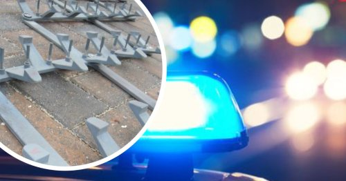 High speed police chase through villages halted by stinger