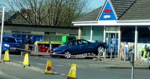 Car crashes into Tesco store near Bath