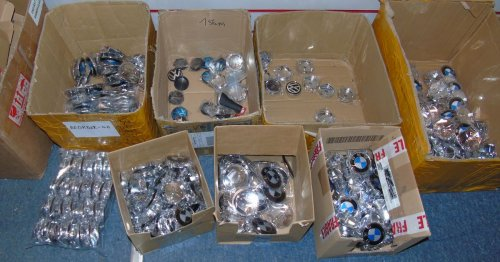 Salesman caught with more than £9K of faked car badges