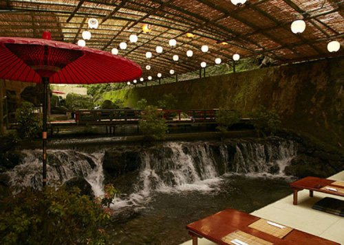 Kibune Japan Has an Incredible Floating River Restaurant - Where You Catch Noodles in an Actual Bamboo Stream