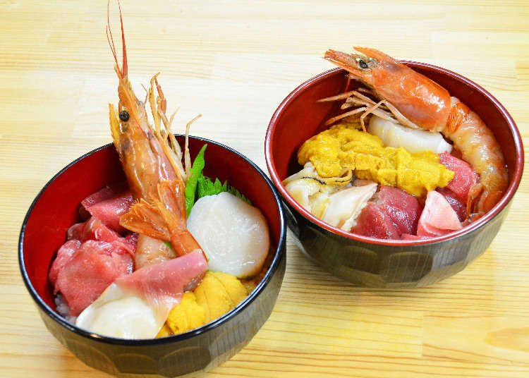 Making Our Own Seafood Bowl at Shiogama Fish Market!