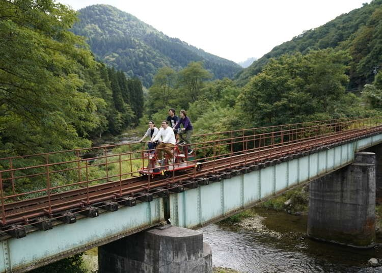Ride a railbike, slurp some soba, and spend time with Akita dogs in northern Japan
