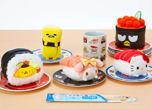 """New! Japan Characters Turned Into """"Sanrio Sushi"""" That's Too Cute to Be Eaten!"""