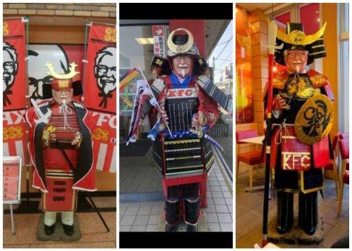 Japan Dresses KFC Colonel in Samurai Gear for Children's Day