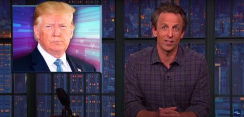 Seth Meyers on Trump grand jury news: 'He's like the David Blaine of crime'
